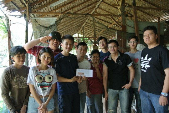 Exabytes' Annual Paintball Event award team