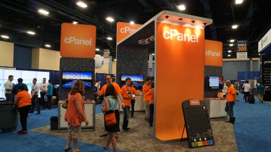 cPanel booth at HostingCon 2014