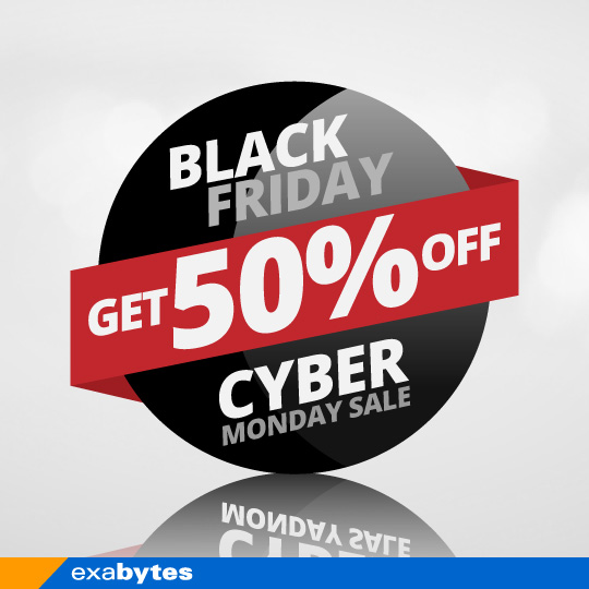 50% Black Friday Cyber Monday