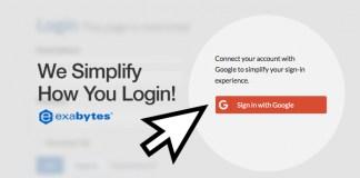 exabytes login with google