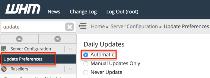 WHM - Automatic