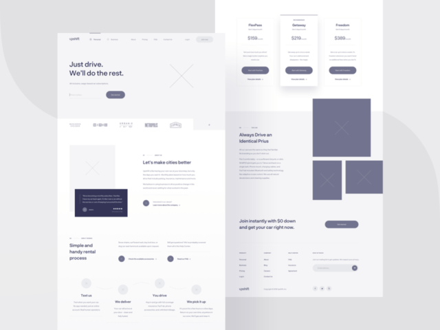 Upshift — wireframe by Michał Roszyk for tonik