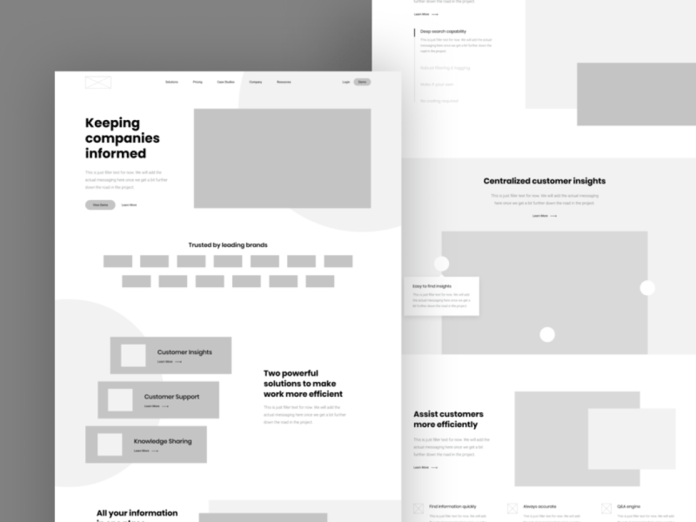 Wireframes by Corey Haggard for Mossio