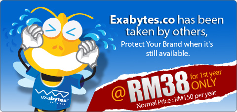 Exabytes.co has been taken by others. Protect your brand when it's still available