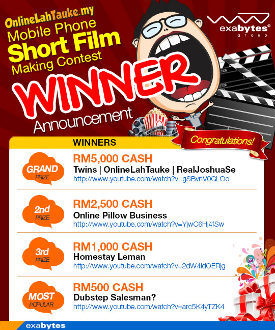 Winner Announcement - OnlineLahTauke Mobile Phone Short Film Making Contest