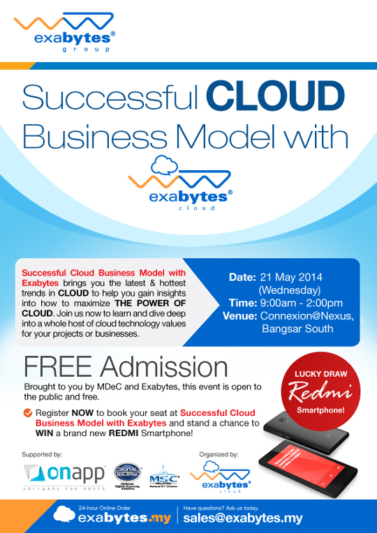 successful cloud business model with exabytes cloud