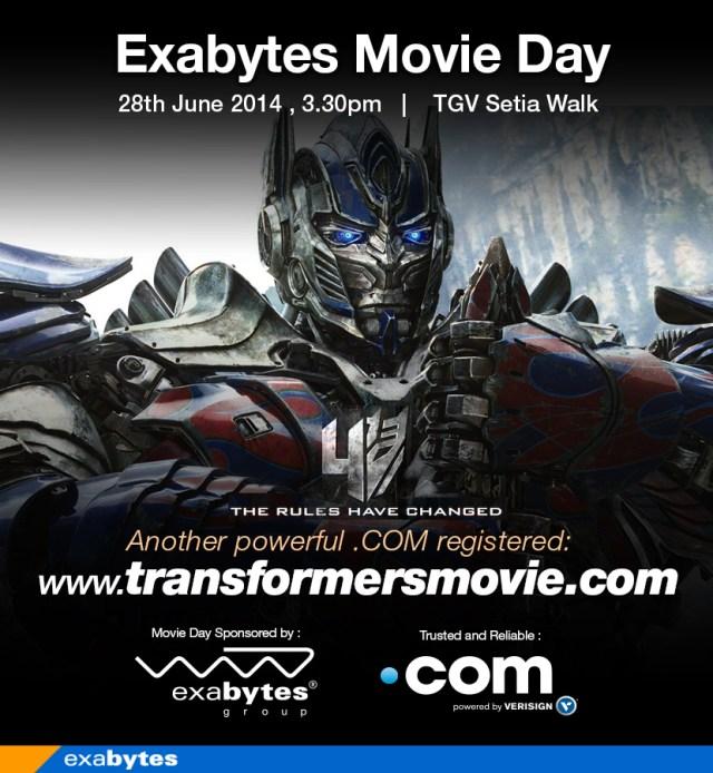 Transformer Exabytes Movie day