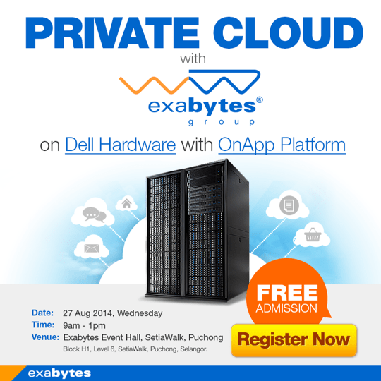 private cloud with exabytes on dell hardware with onapp platform