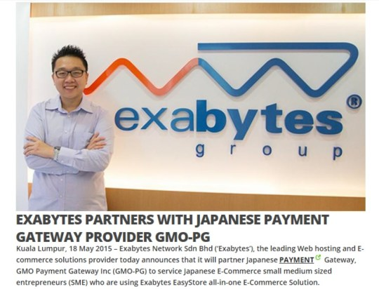 Clipping - Exabytes in OIC Today 22 May 2015
