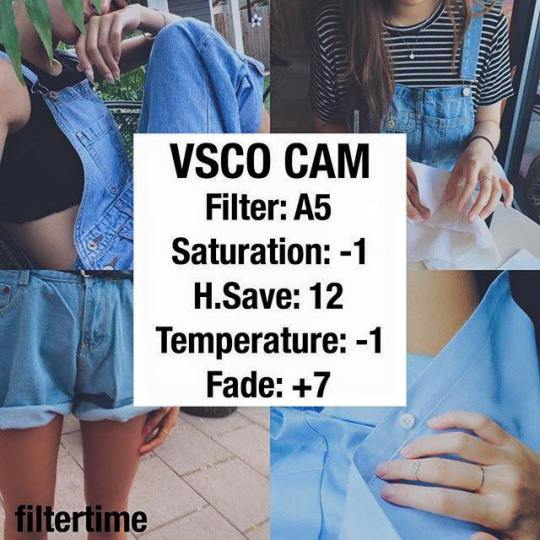 VSCO Cam custom filter setting