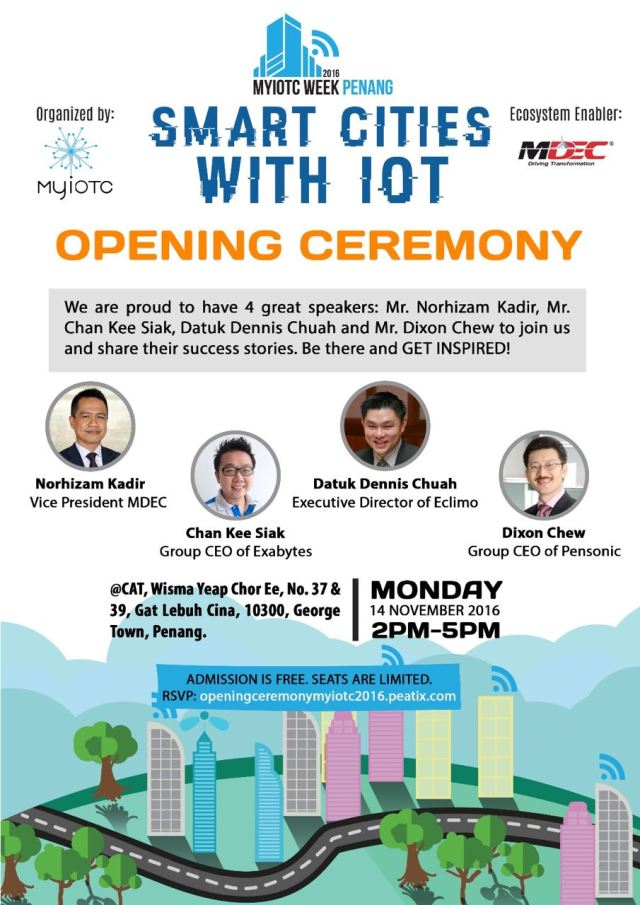 MyIoTC Week Penang - Smart Cities with IOT