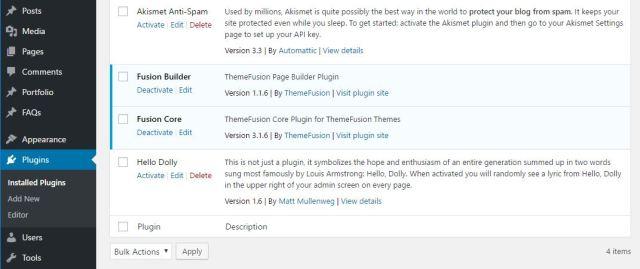 Wordpress plugin install