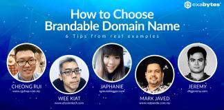Choose website name ideas