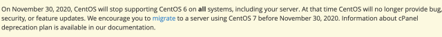 CentOS will stop supporting