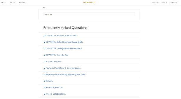 Oxwhite FAQ