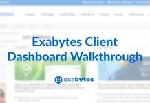 Exabytes client area dashboard