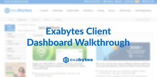 Exabytes client area dashboard