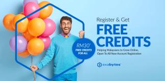 exabytes free credit
