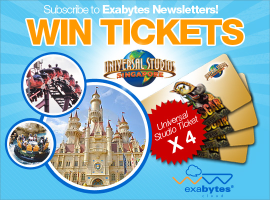 Subscribe to Exabytes Newsletters and win tickets