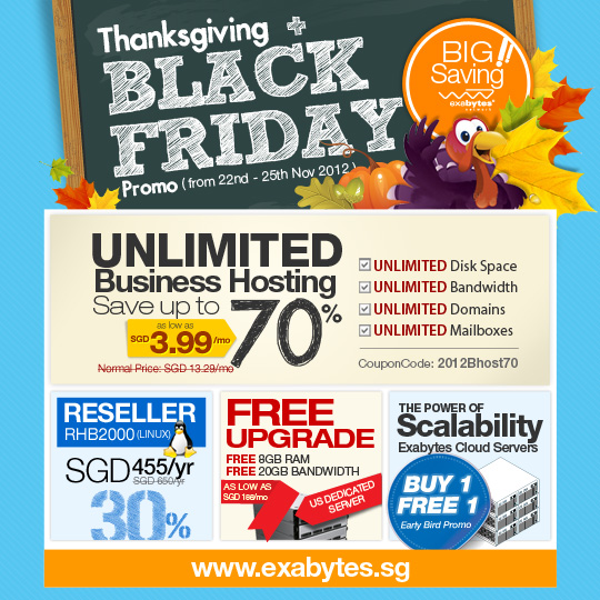 Thanksgiving and black friday promo