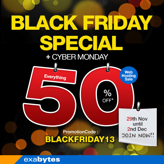 black friday special + cybermonday promotion