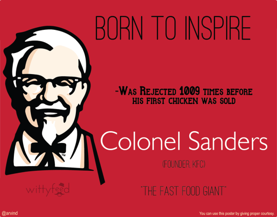 7 born to inspire - Colonel Sanders