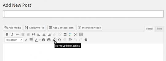 WordPress editor features