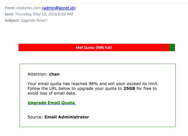 Scam Mail Alert