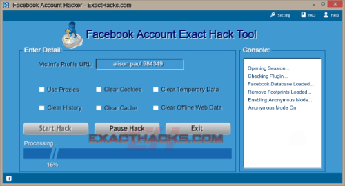 Dəqiq Facebook Account Hacks Tool
