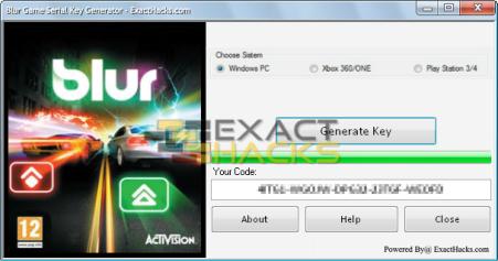 Blur igra CD Serijski Ključ Generator