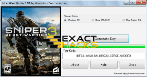 Sniper Ghost Warrior 3 CD Key Generator