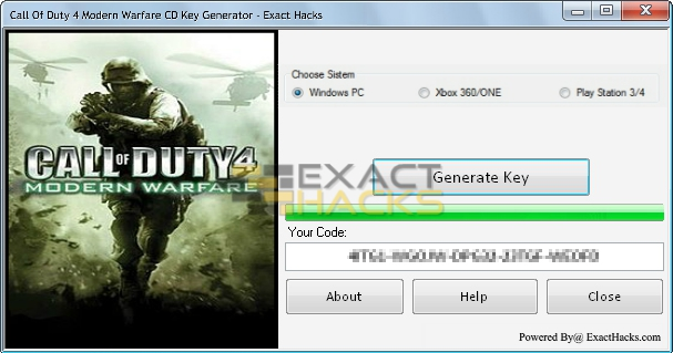 key code generator for cod4 mac