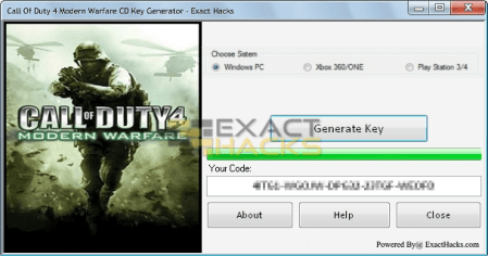 Plicht 4 Modern Warfare CD Key Generator