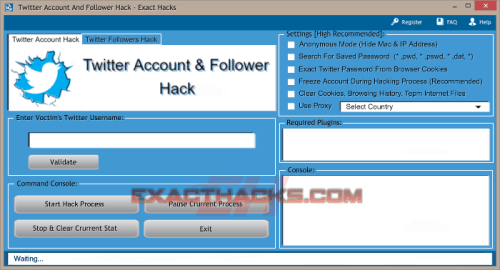 Twitter Account And Followers Hack Tool - Exact Hack