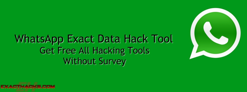 WhatsApp Eksakte Data Hack Tool 2019