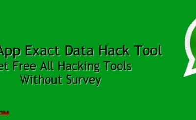 WhatsApp Exact Data Hack Tool 2018