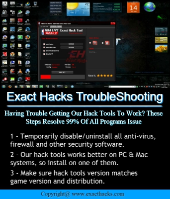 Hacks esatta Troubleshooting