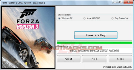 Forza Horizon 3 Serial Keygen - Exact Hack