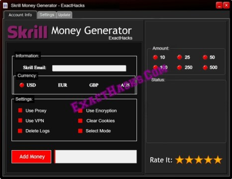 Skrill Money Generator [Huggorm]