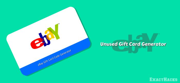 Unused eBay Gift Card Code Generator 2020