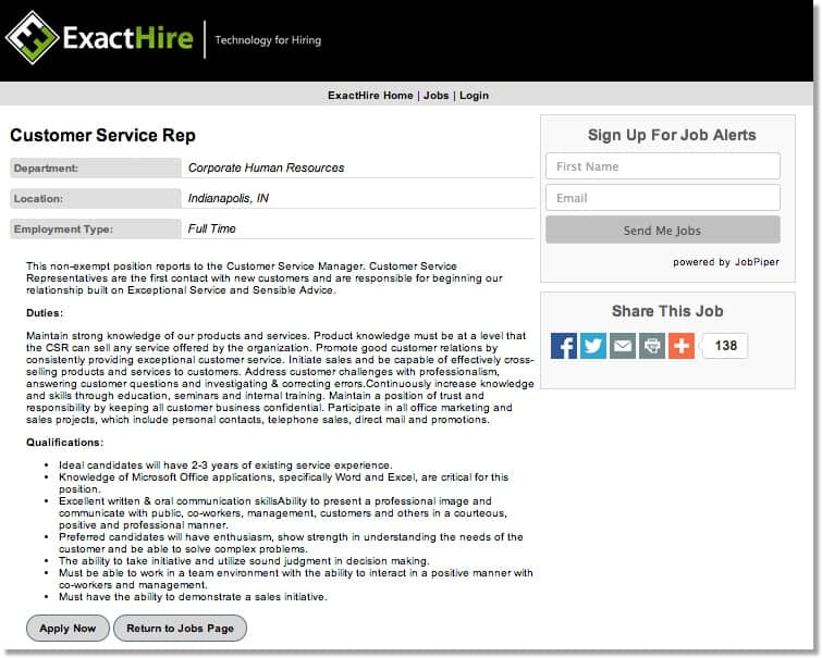 applicant tracking software recruiting software exacthire