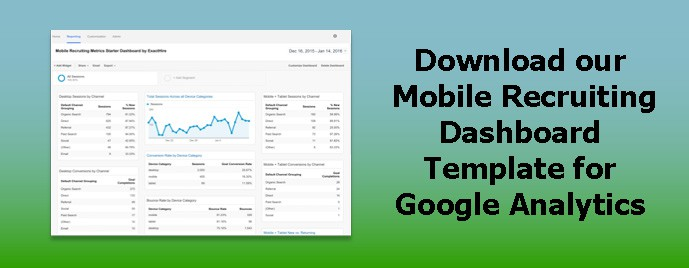 Mobile Recruitment Dashboard For Google Analytics ExactHire