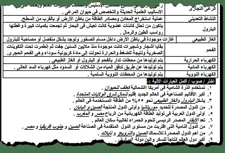 مراجعة نهائية فى الدراسات للصف الثالث الاعدادى الترم الثانى 2019