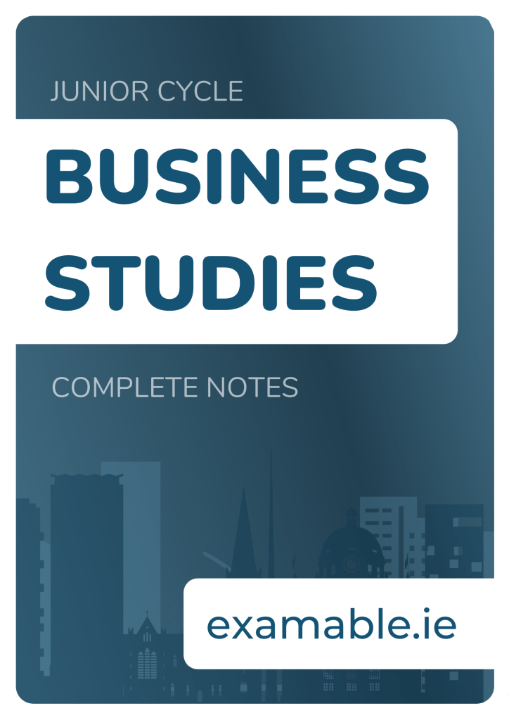 Junior Cycle Business Notes Cover