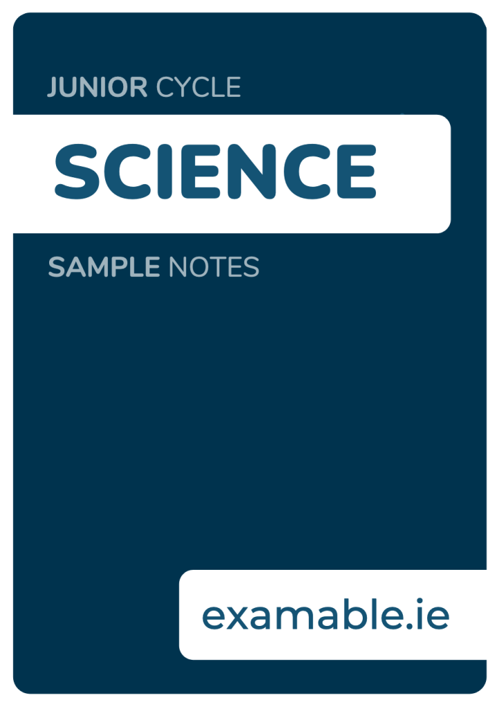 Junior Cycle Science Sample Notes Free