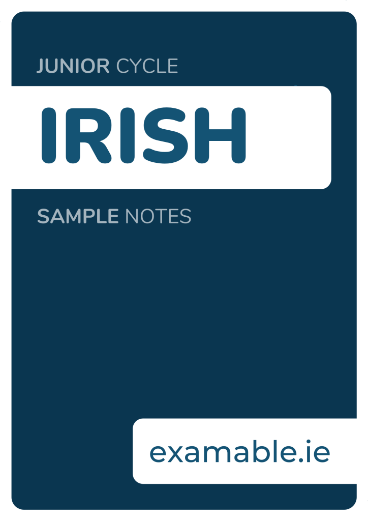JUNIOR CYCLE IRISH SAMPLE NOTES COVER IMAGE