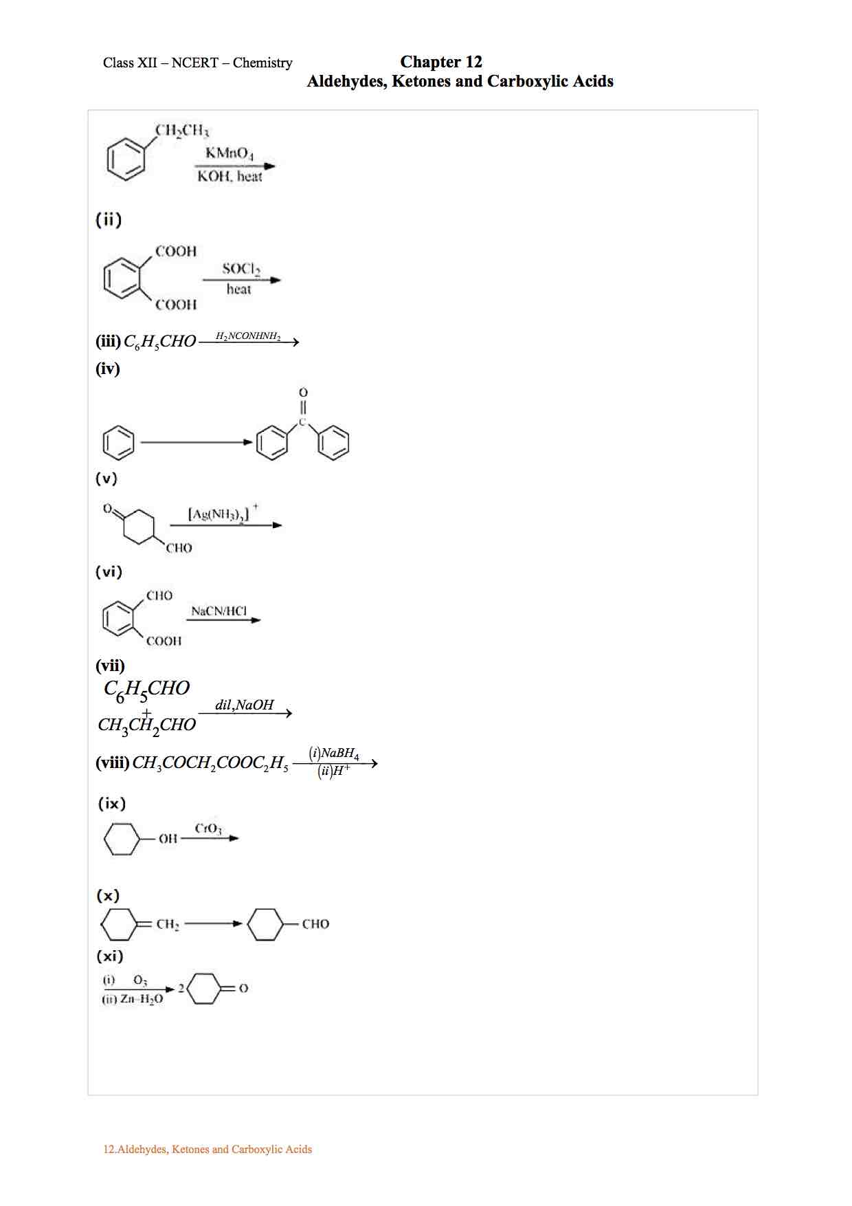 Ncert Solution For Class 12 Chemistry Chapter 12