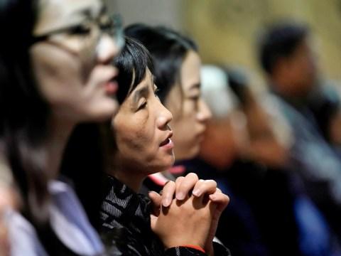 Mass at Beijing's South Catholic Church. Photo: CNS/Reuters