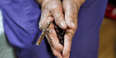 The hands of a South Korean comfort woman who was among those who were forced into prostitution and sexually abused at Japanese military brothels before and during World War II. Photo: CNS/Reuters