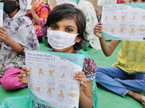 Children at a Caritas community school in Sadiq Nagar on June 24. Photo: UCAN/supplied